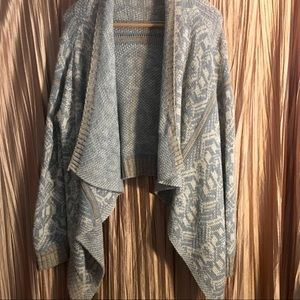 Cotton Emporium Gray And Tan Cardigan Size Large